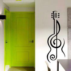 Wall Decals Guitar Vinyl Sticker Music Decal Home by VinylDecals2U