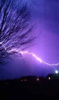lightning in east TN...