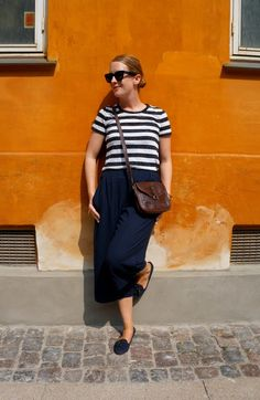 Culottes from ASOS and striped t-shirts from H&M