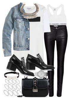 """""""Sin título #2784"""" by hellomissapple ❤ liked on Polyvore featuring Zoe Karssen, Calvin Klein Underwear, Opening Ceremony, J.Crew, Valentino, Jil Sander, ASOS, Cartier, Michael Kors and Forever 21"""