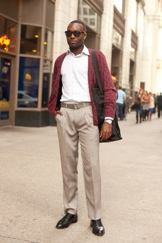 Brandon was inspired by print-mixing #streetstyle #mensfashion #chicago