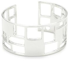 Zina Sterling Silver Windows Collection Cuff Bracelet Zina Sterling Silver. $380.00. Made in USA