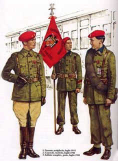 WEHRMACHT 250a Infanterie Division (Division Azul). Einheit spanischer Freiwilliger de la Wehrmacht - 1 Tenente di Artiglieria, Luglio 1941 - Caporale di Fanteria, Luglio 1941 - 3 Soldato semplice, Genio Pontieri, Luglio 1941