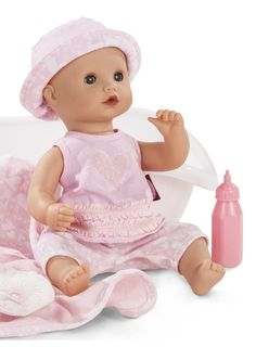 Gotz Baby Aquini with Bath Bath Doll, Chin Length Hair, Vinyl Dolls, Activities, Children, Blog, Young Children, Boys, Kids