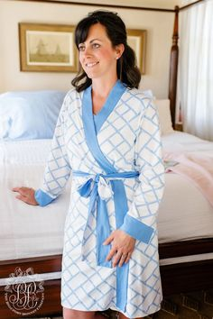 Ready or Not Robe - Bamboo Proverbs with Barbados Blue - The Beaufort Bonnet Company Beaufort Bonnet Company, Mommy Style, Mommy And Me, Night Gown, Proverbs, Bamboo, Barbados, Lady, Cotton