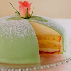 Swedish Princess Cake. BEST CAKE EVER! Our Mom always gets each of us one for our birthday every year.