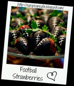Football Strawberries on MyRecipeMagic.com