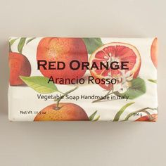 One of my favorite discoveries at WorldMarket.com: Red Orange Organic Italian Vegetable Soap