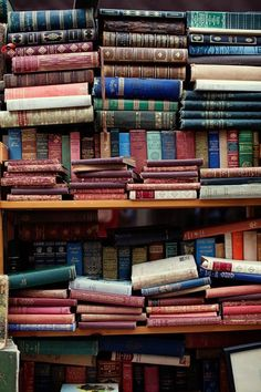 Who says messy is bad? Double-layering your books is a quaint way of organizing bookshelves.