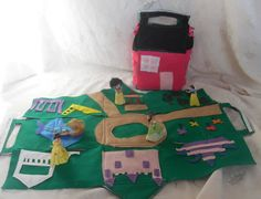 Princess Play Mat for girls fold into House by CreativeLittle1s, $30.00