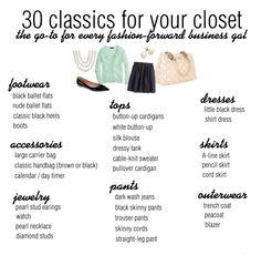 30 classics for your closet