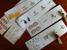 Chinese Numbers Match Printable