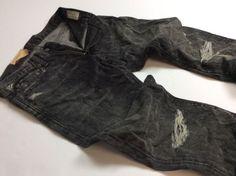 Denim-amp-Supply-Ralph-Lauren-Men-Vintage-Distressed-Rip-Stretch-Slim-Black-Jeans