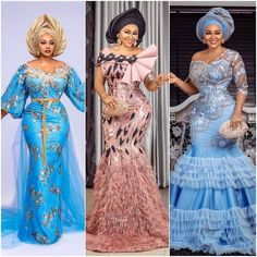 Mercy Aigbe is known for her exquisite style and fashion sense, and we are all here for it! When it comes to slaying in Aso-Ebi, Mercy Aigbe sure knows her… African Lace Dresses, Latest African Fashion Dresses, African Dresses For Women, African Print Fashion, African Attire, African Wear, African Style, Lace Gown Styles, Aso Ebi Lace Styles