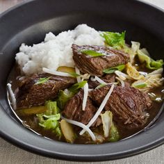 Slow Cooker Korean Beef Stew with Napa Cabbage and Pickles Recipe  - Marcia Kiesel | Food & Wine