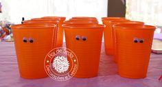 Festa Infantil Halloween - Detalhes mesa decorada - copos personalizados