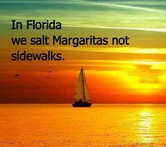 In Florida we salt Margaritas not sidewalks. Winter in Florida Florida Girl, Florida Living, Florida Home, Florida Keys, Florida Beaches, South Florida, Florida Style, Florida Funny, South Usa