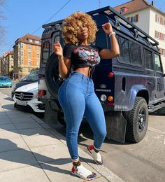 Black Girl Fashion Nova, Power Werbung on Stylevore Curvy Girl Outfits, Dope Outfits, Casual Outfits, Fashion Outfits, Swag Fashion, Dope Fashion, Jean Outfits, Fashion Pants, Dress Outfits