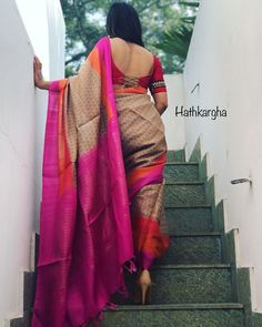 Looking for deep back neck blouse designs for sarees? Here are our picks of 14 trending blouse models that will make you flaunt this blouse with style. Blouse Back Neck Designs, Simple Saree Blouse Designs, Indian Blouse Designs, Beautiful Blouses, Beautiful Saree, Indian Beauty Saree, Indian Sarees, Indian Dresses, Indian Outfits