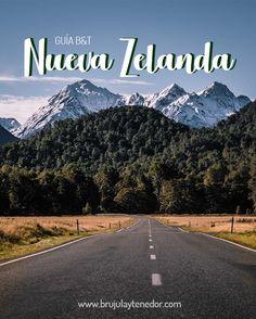 Encuentr la guía para tus viajes a Nueva Zelanda Mountains, Beach, Water, Travel, Outdoor, Beautiful, Beautiful Landscapes, Countries, Gripe Water