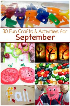 A month of kids activities for September! Fun fall crafts and learning activities for preschoolers! All activities have a fall theme that is perfect for this time of year! Free activity calendar for busy families, daycare providers, and teachers! #preschoolactivities #preschoolcrafts #preschool #fallcrafts Activities For 6 Year Olds, Fall Preschool Activities, September Activities, Preschool Arts And Crafts, Toddler Learning Activities, Crafts For Kids, Toddler Crafts, Fall Crafts, Learning Tools