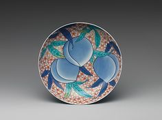 Dish with Design of Peaches Date: 19th century Culture: Japan Medium: White porcelain decorated with blue under the glaze, colored enamels and iron red (Nabeshima ware)