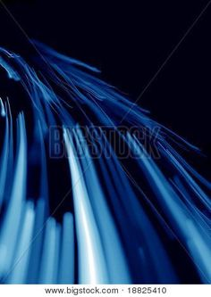Blue abstract light lines on black