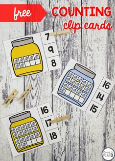 Have some students who love anything creepy crawly? These bug counting clip cards are a fun way to add some insect fun to your math centers while practicing counting from and reading ten frames. Numbers Kindergarten, Kindergarten Centers, Preschool Math, Math Centers, Kindergarten Counting, Kindergarten Classroom, Classroom Freebies, Table Centers, Elementary Math