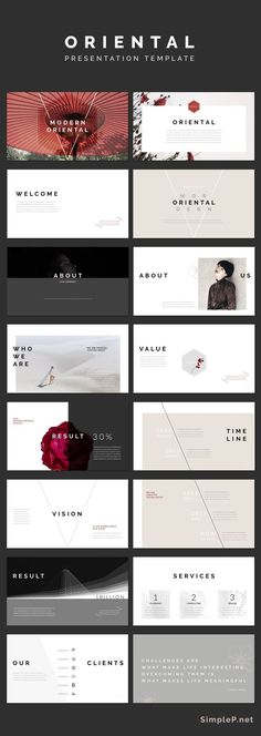 Modern Keynote Presentation Template #simple #minimal #black #business #marketing #portfolio #oriental