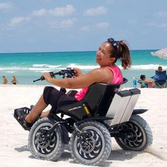 The Zoom Life shares the stories of individuals who epitomize the spirit of Zoomability and the Zoom itself. People who embrace their independence and choose a life of freedom and joy.  Ivanna Brown is enjoying the freedom of movement with her all terrain chair as she maneuvers through sand on her own for the first time in nearly 20 years.