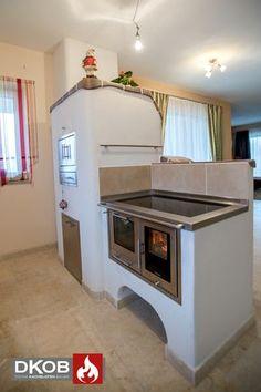 Chalet Design, Küchen Design, Tile Design, Wood Burning Cook Stove, Rammed Earth Homes, Cocina Shabby Chic, Kids Room Wallpaper, Kitchen Shop, Rocket Stoves