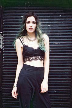 Green haired grunge