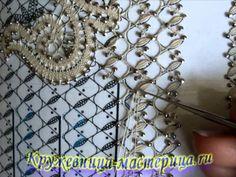 Выполнение накладного столбика в перчатке