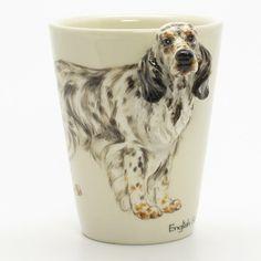http://www.muddymood.com  Original hand sculpt and hand paint   English Setter Dog Lover Mug Handmade.