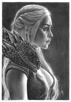 Amazing Traditional Illustration of Daenerys Targaryen by FabianoArts Dessin Game Of Thrones, Game Of Thrones Drawings, Game Of Thrones Artwork, Game Of Thrones Fans, Daenerys Targaryen, Daenerys Game Of Thrones, Khaleesi, Art Sketches, Art Drawings