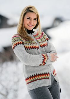 Colorful and catchy norwegian knitting sweater that inspired 27 – empyreandivine Cardigan Pattern, Knit Cardigan, Knit Jacket, Vest, Norwegian Knitting, Nordic Sweater, Fair Isle Pattern, Knitwear, Knit Crochet
