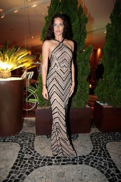 WHO: Adriana Lima  WHAT: Le Lis Blanc dress, Vita Fede jewelry  WHERE: BrazilFoundation Gala, Rio de Janeiro, Brazil  WHEN: August 8, 2016