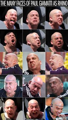 The Many Faces of Paul Giamatti as Rhino in the upcoming movie, Amazing Spider-man 2