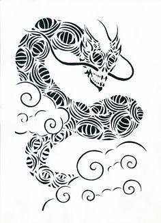 Wind dragon / Дракон воздуха Прорезная графика / slotted graphics