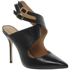 Cross Over Heeled Court Shoes by River Island