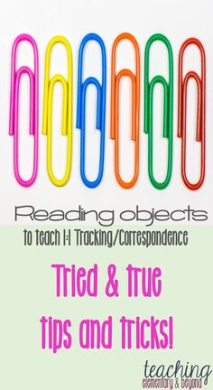 Strategies and tips to help young children learn or reinforce 1:1 tracking and correspondence! A great activity for kindergarten students or any young learner and a great way to see your students fine motor skills in action.