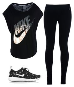 """""""Workout Outfit"""" by marlenelucero on Polyvore featuring NIKE"""