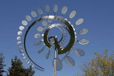 Kinetic art is art that contains moving parts or depends on motion for its effect. The moving parts are generally powered by wind, a motor or the observer.