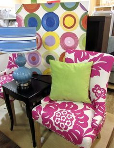 Love the tropical print- want this chair!