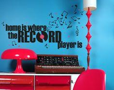 Wandtattoo Recordplayer #Wandtattoo #Wanddeko #Recordplayer #Music #Musik #Home