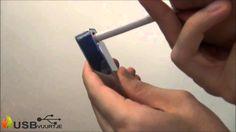 Elektrische USB aansteker - usbvuurtje silver