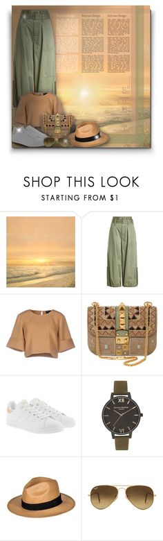 """""""Marc Jacobs Cargo Culottes! - Contest!"""" by asia-12 ❤ liked on Polyvore featuring FOOTPRINTS, Marc Jacobs, The Fifth Label, Valentino, adidas Originals, Olivia Burton, Roxy, Ray-Ban and Rivka Friedman"""
