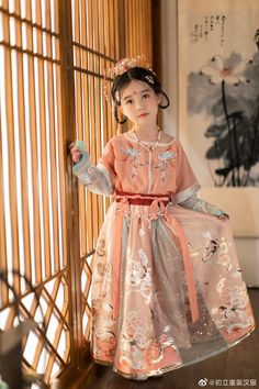 Traditional Dresses For Kids, Traditional Outfits, Chinese Clothing, Japanese Outfits, Hanfu, Kids Girls, Asian Beauty, Kids Fashion, Photo Baby