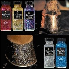 Twinkle Toes Glitter Hoof Polish Makes hooves dance with sparkle and light. Beautiful Satin Finish with a high gloss shine in fabulous new color choices. Satins also seal and protect hooves from moisture.