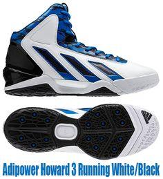 newest 93926 866cd Adipower Howard 3 Running White-Black Basketball Sneakers, Adidas Sneakers,  Adidas Men,